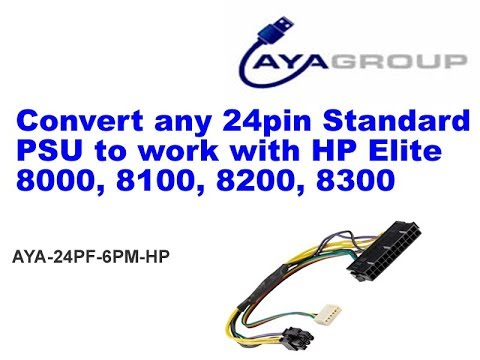 Convert Standard Power Supply to work with HP Elite 8000, 8100, 8200, 8300
