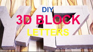 DIY 3D Block Letters From Scratch Part 1