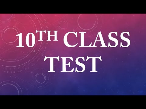 Can you pass this 10th grade test...?
