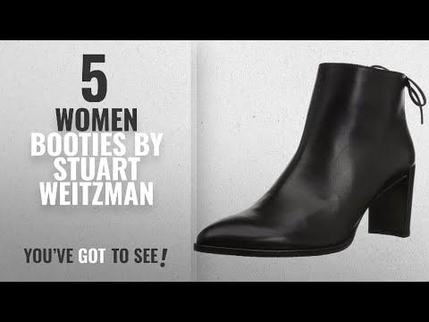 Top 10 Stuart Weitzman Women Booties [2018]: Stuart Weitzman Women's Lofty Ankle Boot, Black Calf, 9
