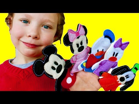 Thumbnail: Family Finger Song (Daddy Finger) - Mickey Mouse, Minnie, Donald, Daisy, and Pluto ~PlayBuddies