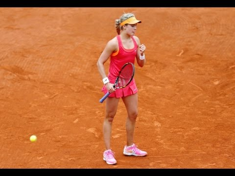 Eugenie Bouchard VS Julia Georges Highlight 2014 R2