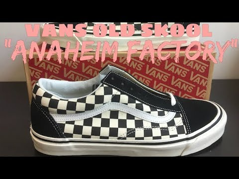 vans old skool checkerboard anaheim