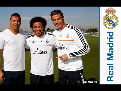 Ronaldo Nazário da Lima visits Real Madrid City
