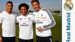 Ronaldo Nazário da Lima visits Real Madrid City(Ronaldo Nazário da Lima visited Real Madrid Football City. The former Madrid player, who spent five seasons with the club, winning 2 Ligas, 1 Intercontinental ..., 2013-09-25T11:51:39.000Z)
