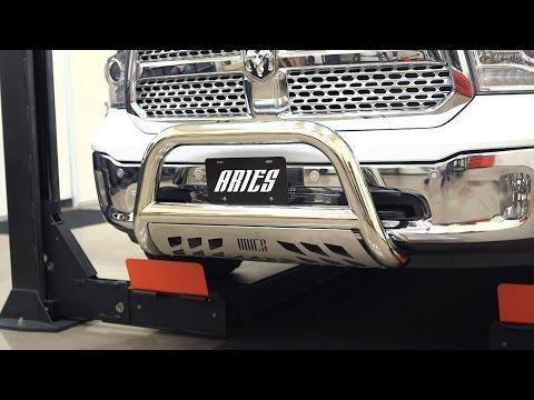 Armordillo AR Series Bull Bar w// Brushed Skid Plate For 2009-2018 Dodge Ram 1500