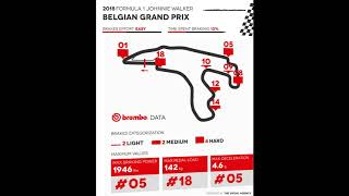 F1 Brembo data - Belgium Grand Prix 2018