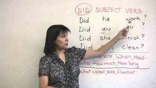 Basic English Grammar - Past Tense Questions