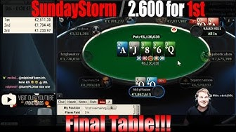 SUNDAY STORM FINAL TABLE | 2.600€ FOR FIRST
