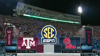 (15) Texas A&M vs (24) Ole Miss Full Game NCAA Football 2015 24/10/2015