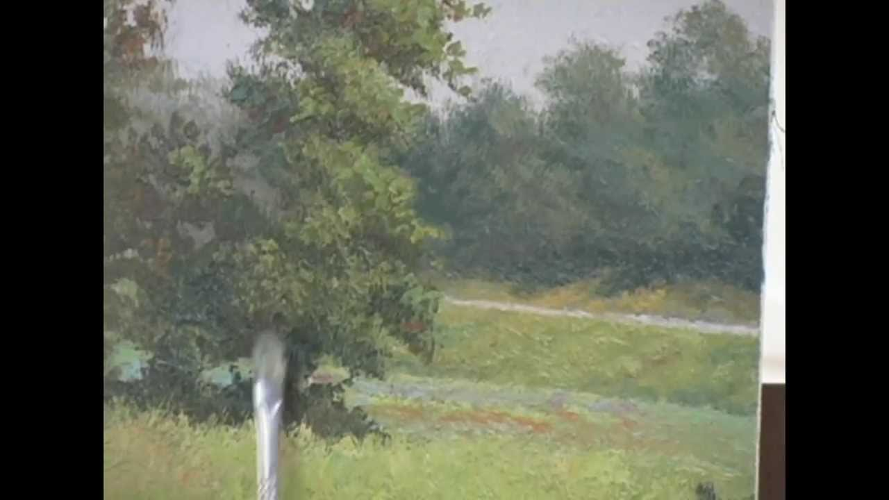 MASTERING HOW TO PAINT TREES by Jon Houglum, Franklin, NC Video #2 ...