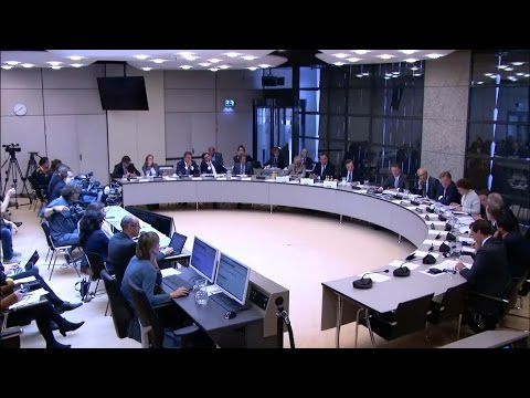 ECB president Draghi questioned by Dutch members of Parliament in The Netherlands. (10-May-2017)