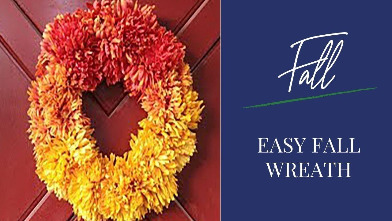 How To Make An Easy Fall Wreath Youtube