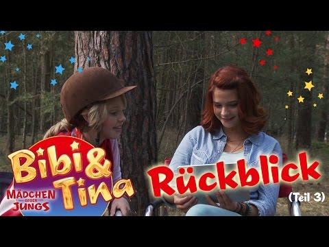 Bibi & Tina  - schauen sich Fotos an... und berichten von den Dreharbeiten