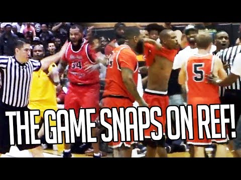The Game PRESSES Ref To Change Call & He DOES! Drew League CRAZY FINISH w/ ONLY UNDEFEATED Teams