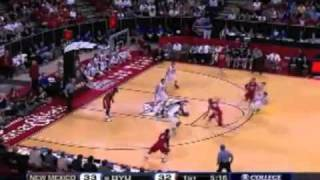 Jimmer Fredette scores a record 52 points!! BYU vs New Mexico 2011