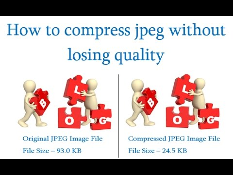 How to compress jpeg images - YouTube