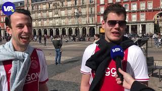 Ajax-fans arriveren in Madrid: 'We kijken alleen naar de Spaanse senorita's'
