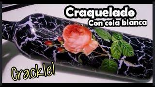 Craquelado y decoupage sobre vidrio II- Easy Crackle por Helencreaty