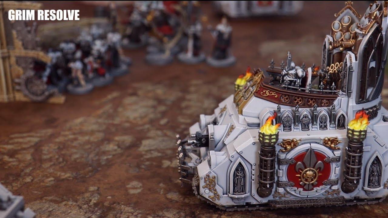 Adepta Sororitas Vs Orks Warhammer 40k 1500pts Sisters of Battle vs Bad Moons