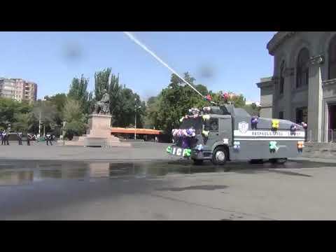 Полиция Армении применила водомёты, но не для разгона