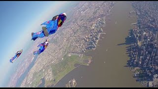 Wingsuit Flying Over New York City FULL POV