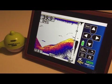 vexilar t-pod 2: ios software sonar phone sp100 echolot fishfinder, Fish Finder