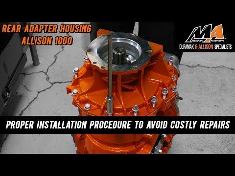Rear Adapter Housing Install - Allison 1000 - YouTube