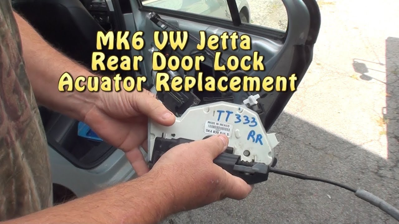 Mk6 Vw Jetta Rear Door Lock Actuator Replacement