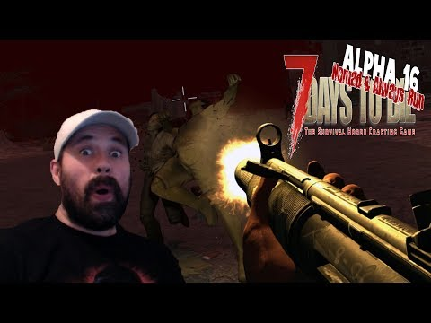 Horde Night | 7 Days To Die Alpha 16 Nomad Always Run Mini Series Let's Play Gameplay PC | E10