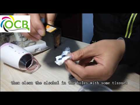 how to clean edible ink cartridge for coffee printer