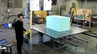 Bandsaw Model 2054 Foam Test Cut.avi
