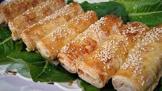 Слоёные трубочки из лаваша с картофельным пюре -Ани Кухня!