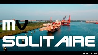 SOLITAIRE Biggest Pipelay Vessel in the World 4K