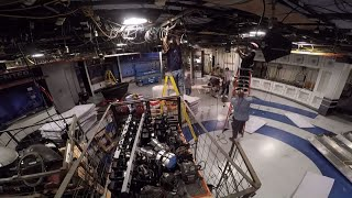 Timelapse Shows Teardown And Construction Of New CBS2 Set