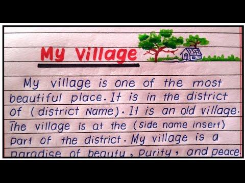 Download My village essay in English | Essay on my village in English | Village essay | Paragraph on village