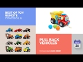 default - 12 Pack Pull Back Vehicles, Assorted Construction Vehicles Dump Truck Toys for Toddlers Boys, Pull Back And Go Mini Car Kids Toy Play Set
