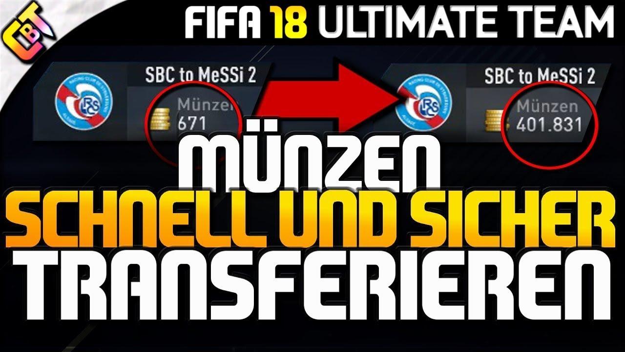 Fifa 18 Coins übertragen Ohne Gebannt Zu Werden Youtube