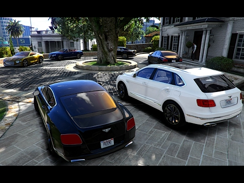 GTA V | BENTLEY CARS COLLECTION  | BENTAYGA | CONTINENTAL GT | MULSANNE | FLYING SPUR | EXP 10
