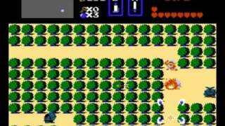 NES Longplay - Legend Of Zelda (all hearts, weapons and armors)