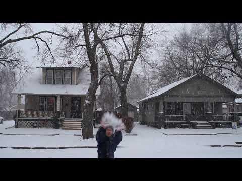 Snow at Salina Kansas USA 5
