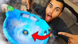MOST DANGEROUS TOY OF ALL TIME!! INSANE NITROGEN ICE VORTEX BEYBLADE BATTLE!!