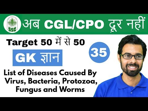 7:00 PM GK ज्ञान by Bhunesh Sir |List of Diseases Caused By Virus,  Bacteria, Protozoa| Day #35