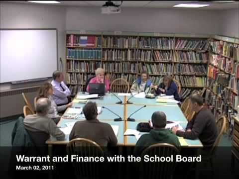 Warrant and Finance - School Budget - 03-02-2011