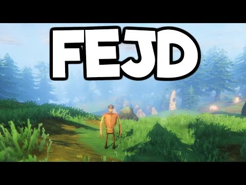 Fejd Gameplay Impressions #2 - Building a Base + Learning Iron Weapons & Armor!