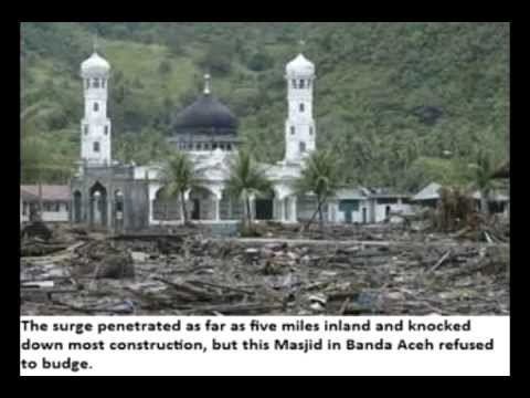 Tsunami Wipes Out Everything EXCEPT 28 Mosques - Sign Islam is the TRUTH