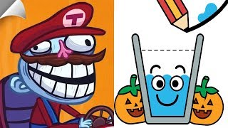 Troll Face Quest Video Games 2 Vs Happy Glass Halloween - All Levels Gameplay Walkthrough