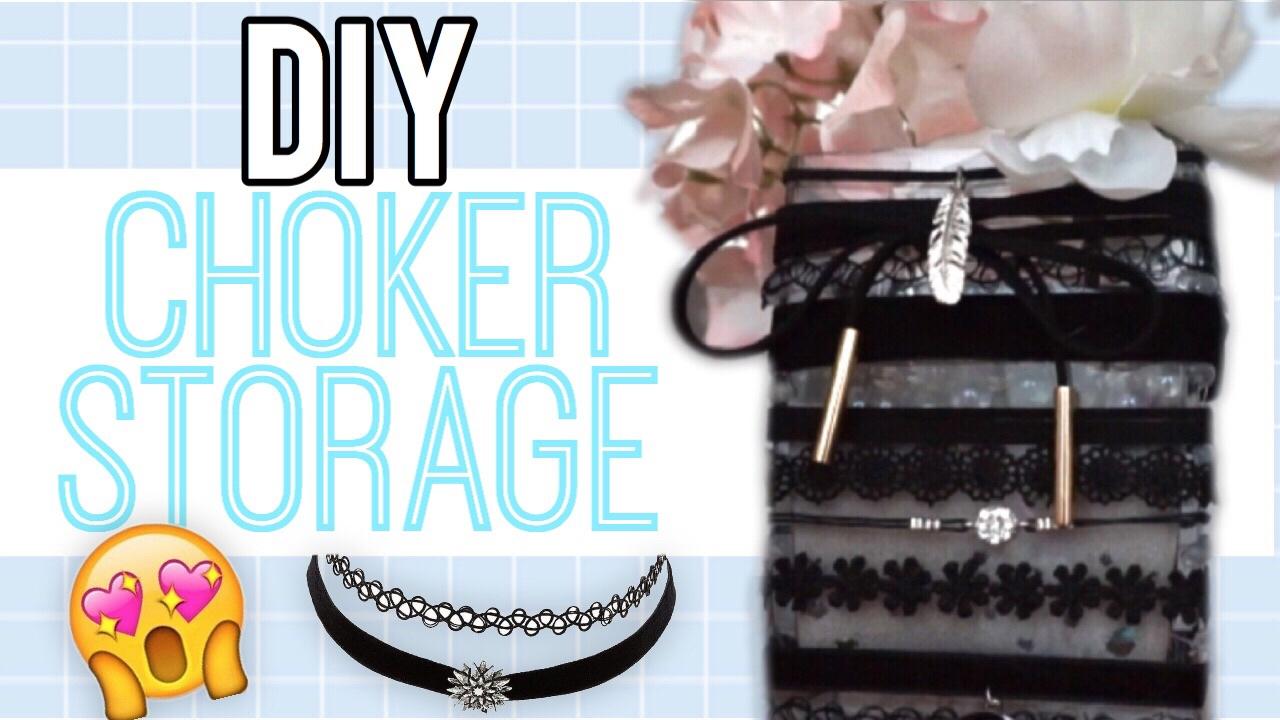 DIY Choker Storage! Cute Choker Holder!