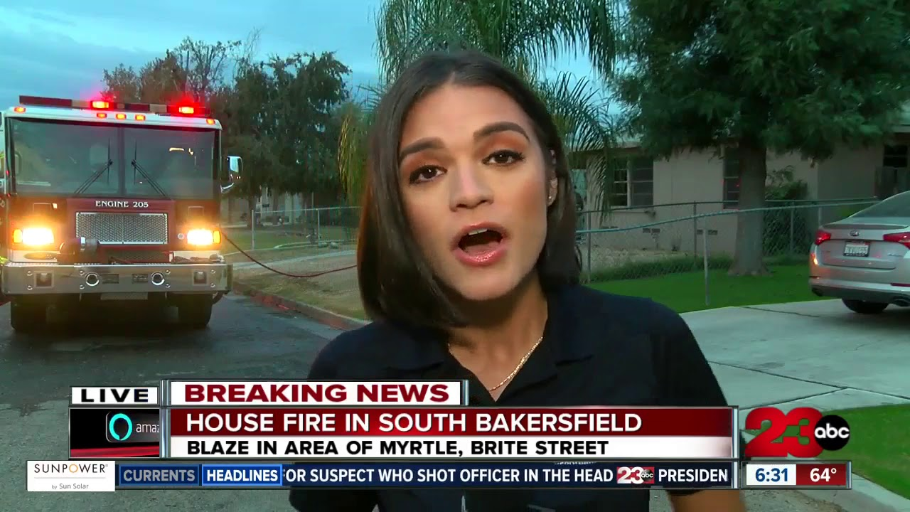 House fire in South Bakersfield - YouTube