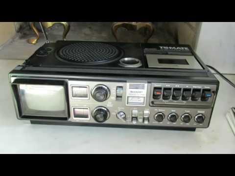 1978 Sharp Tri-Mate 3T-59 Portable AM FM Radio, Tape, and TV DEMO